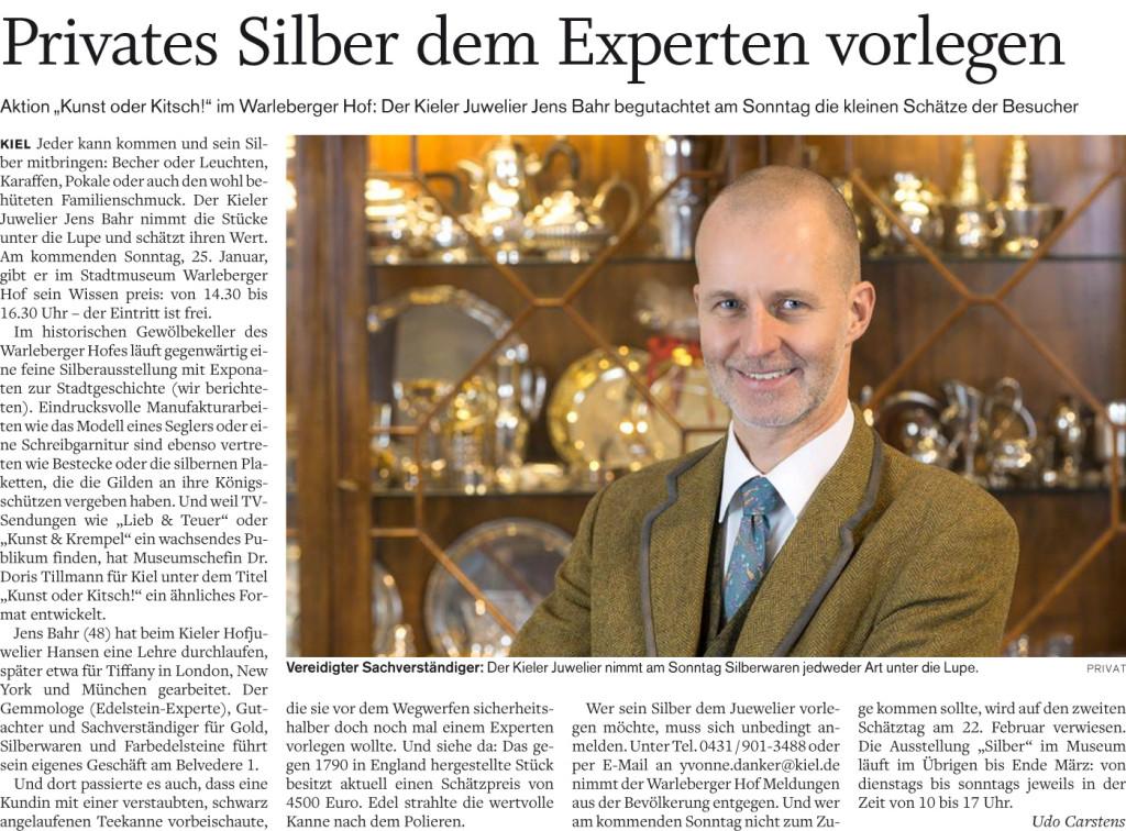 Artikel - Privates Silber dem Experten vorlegen