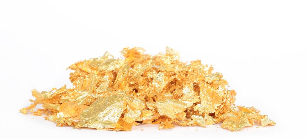 Blattgold-Haufen