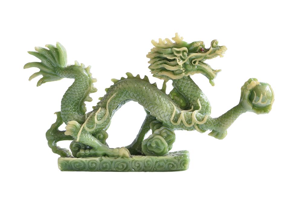 Chinesischer Drache aus Jade
